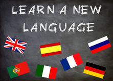 Aprenda una nueva lengua ilustración del vector