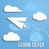 Aprenda volar concepto Imágenes de archivo libres de regalías