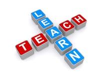 Aprenda y enseñe a la muestra stock de ilustración