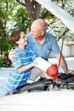 Aprendendo a auto manutenção Foto de Stock