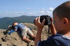 Aprendendo a fotografia Fotografia de Stock