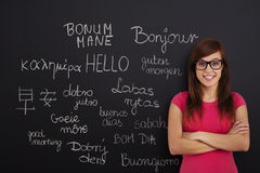 Aprendendo línguas estrangeiras Fotos de Stock Royalty Free