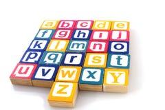 Aprendendo o alfabeto imagens de stock