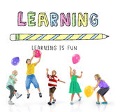 Aprendendo o conceito da escola da educação do conhecimento do estudo fotos de stock royalty free