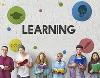 Aprendendo o conceito do conhecimento dos Academics da educação imagem de stock