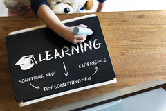 Aprendendo o conceito dos Academics da educação imagens de stock royalty free