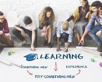 Aprendendo o conceito dos Academics da educação imagens de stock
