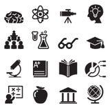 Aprendendo, Smart, ícones do gênio ajustados ilustração stock