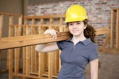 Aprendiz fêmea da construção Foto de Stock Royalty Free