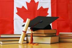 Aprendizagem acadêmico canadense foto de stock