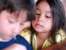 Aprendizagem da criança Fotos de Stock Royalty Free