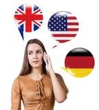 Aprendizagem do conceito das línguas estrangeiras Fotos de Stock