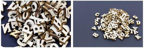 Aprendizagem do divertimento da pilha do alfabeto imagens de stock