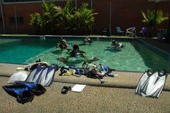 Aprendizagem do mergulho Fotos de Stock