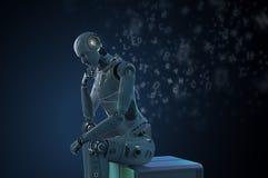 Aprendizagem do robô do Ai ilustração royalty free