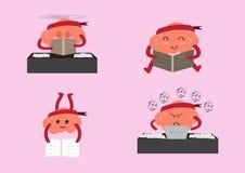 Aprendizagem dos desenhos animados do cérebro Fotografia de Stock