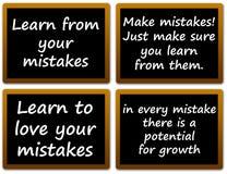 Aprendizagem dos erros Fotos de Stock Royalty Free