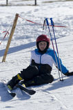 Aprendizagem esquiar Foto de Stock