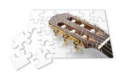 Aprendizagem jogar ponto por ponto a guitarra fotos de stock royalty free