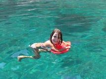 Aprendizagem nadar Imagens de Stock Royalty Free