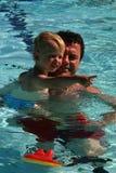 Aprendizagem nadar Imagem de Stock