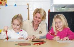 Aprendizagem pré-escolar Fotos de Stock