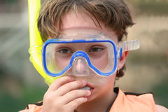 Aprendizagem snorkel Fotografia de Stock Royalty Free