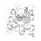 Aprendizagem sob o mar ilustração royalty free