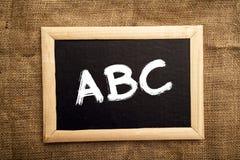Aprendizaje de ABC Fotos de archivo libres de regalías