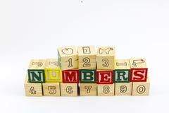 Aprendizaje de cuenta de los números de bloques 123 Foto de archivo