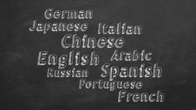 Aprendizaje de idiomas extranjeros ilustración del vector