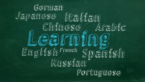 Aprendizaje de idiomas extranjeros stock de ilustración