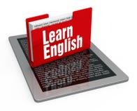 Aprendizaje de inglés stock de ilustración