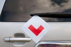 Aprendizaje de las placas en un coche Imagen de archivo libre de regalías