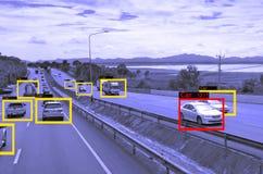 Aprendizaje de máquina y AI identificar la tecnología de los objetos, concepto de la inteligencia artificial Tratamiento de la im fotos de archivo libres de regalías
