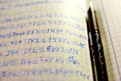 Aprendizaje de matemáticas Foto de archivo libre de regalías