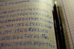 Aprendizaje de matemáticas Fotografía de archivo