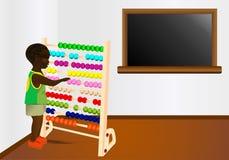 Aprendizaje de matemáticas, vector de los cdr stock de ilustración