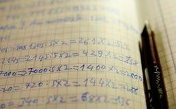 Aprendizaje de matemáticas Imágenes de archivo libres de regalías