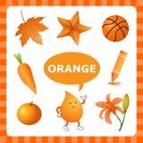 Aprendizaje de Orangecolor stock de ilustración