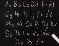 Aprendizaje del alfabeto Foto de archivo