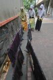 Aprendizaje del batik Fotografía de archivo libre de regalías