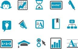 Aprendizaje del conjunto del icono stock de ilustración