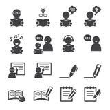 Aprendizaje del icono Imagen de archivo libre de regalías