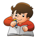 Aprendizaje del muchacho ilustración del vector