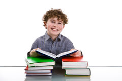 Aprendizaje del muchacho Fotografía de archivo libre de regalías