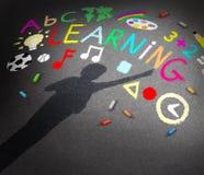 Aprendizaje del niño Imágenes de archivo libres de regalías