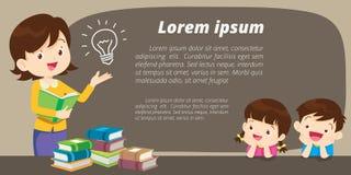 Aprendizaje del profesor y del estudiante stock de ilustración