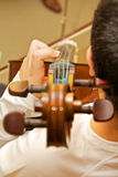 Aprendizaje del violoncelo Fotografía de archivo libre de regalías