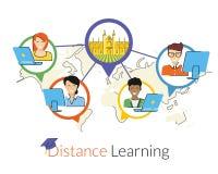 Aprendizaje a distancia ilustración del vector